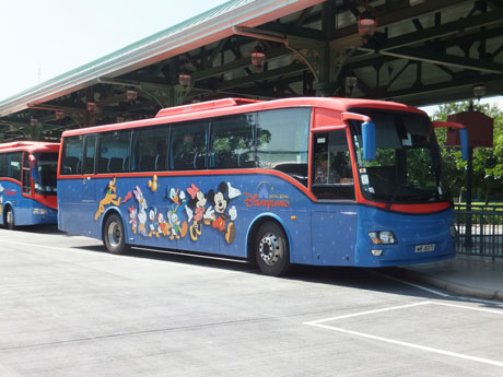 Free Shuttle Bus Operates Between Hong Kong Disneyland Public Transport Interchange And Both Hotels