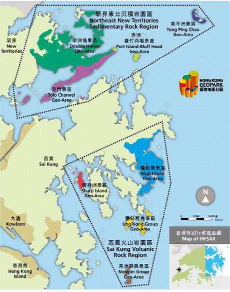 Hong kong geopark hong kong extras3 map showing the two regions of hong kong geopark gumiabroncs Image collections